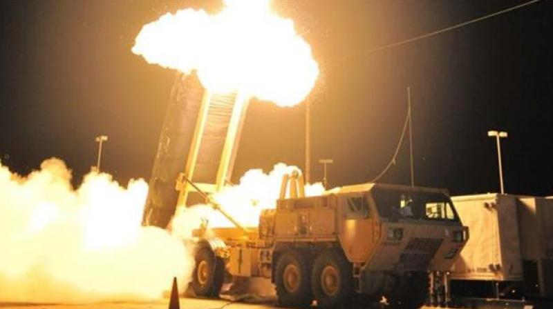 File photo showing a test of the Terminal High Altitude Area Defense (THAAD).
