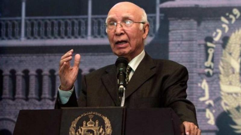 Pakistan Prime Minister's Foreign Affairs Advisor Sartaj Aziz. (Photo: PTI/File)