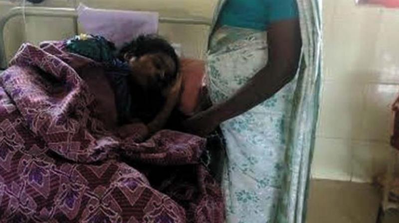 Ashwathi at Kozhikode medical college hospital. (Photo: DC)