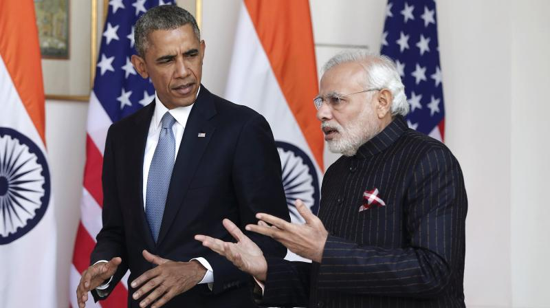 Prime Minister Modi with US President Barack Obama. (Photo: PTI)