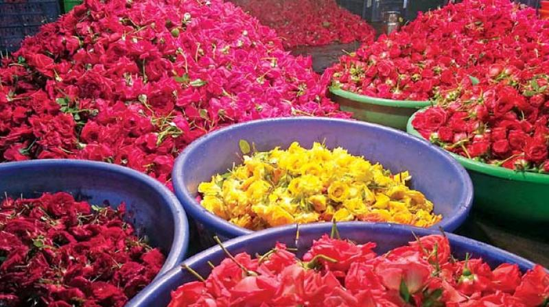 Flower Prices Up In Hyderabad Due To High Demand