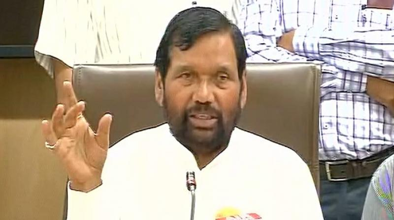 'When you win, EVMs are alright. But when you lose, allegations about EVM manipulation arise,' LJP chief Ram Vilas Paswan said. (Photo: Twitter/ANI)