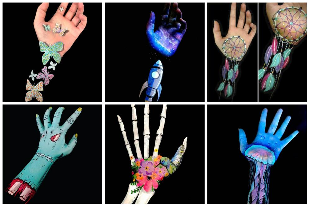 Artist Uses 3 D Techniques To Tranform Her Arms Into Optical Illusions