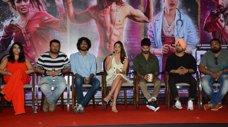 Team 'Udta Punjab' at the press conference after the HC verdict.