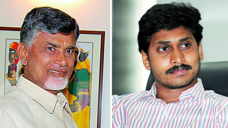 Image result for jagan with chandrababu naidu