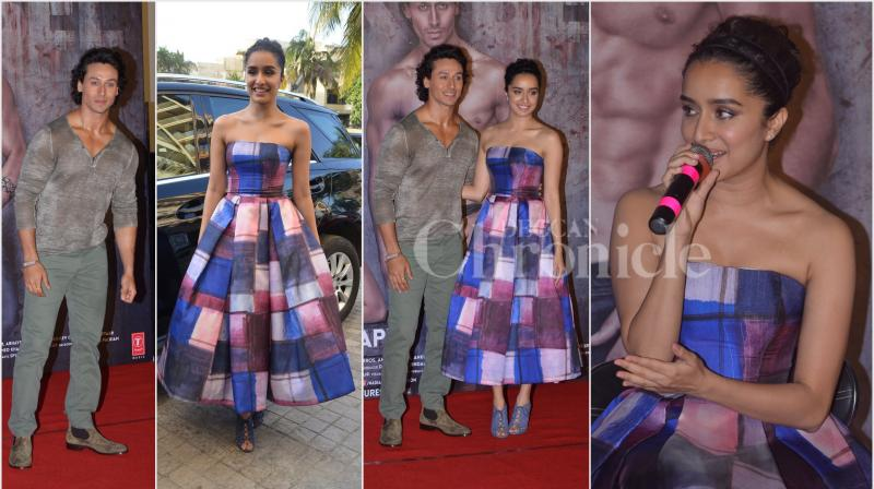 At the trailer launch of 'Baaghi', Shraddha Kapoor and Tiger Shroff talk about the film, their sizzling on-screen chemistry among many other things. (Photo: Viral Bhayani)