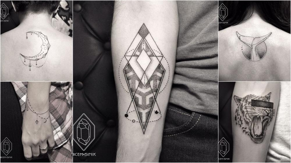 Lines And Dots Tattoo: Geometric Line And Dot Tattoos To Get Inspired From