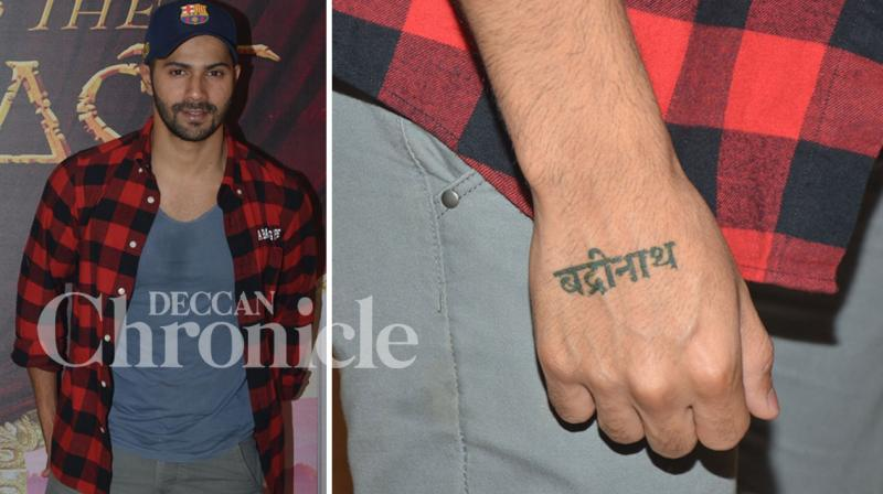Varun Dhawan has got himself inked yet again, this time; it is for his upcoming romantic-comedy Badrinath Ki Dulhania. Photo: Viral Bhayani