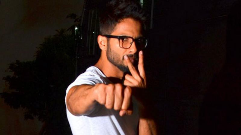 Bollywood star Shahid Kapoor was spotted at the film studios on Sunday evening. Photo: Viral Bhayai