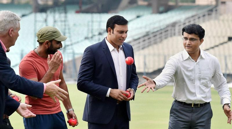 If the experiment is successful, Sourav Ganguly's association will stand a good chance of holding first ever Pink Ball Test in India that BCCI is planning to hold. (Photo: PTI)