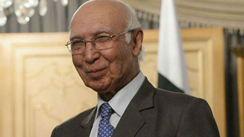 Pakistan Prime Minister's Advisor on Foreign Affairs Sartaj Aziz . (Photo: AFP)