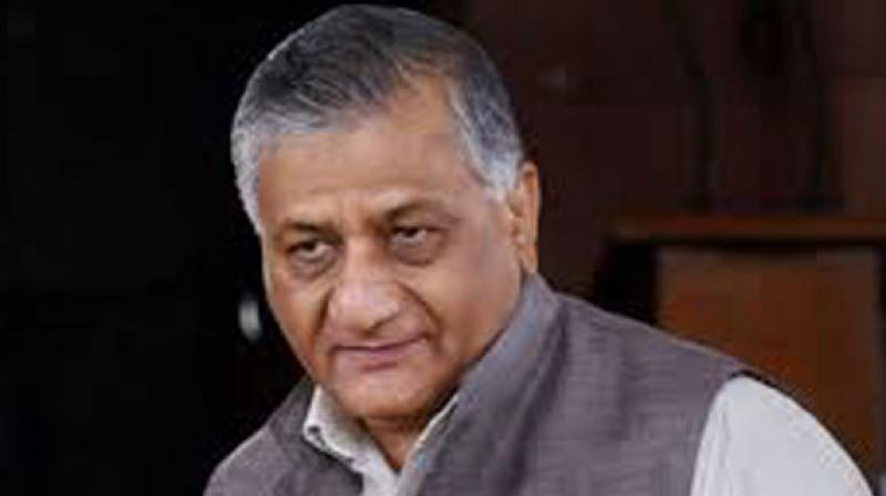 Minister of State for External Affairs V K Singh. (Photo: PTI)