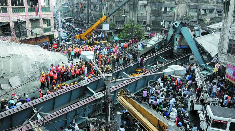 Flyover Being Built Since 2009 Collapses In Kolkata 21 Killed
