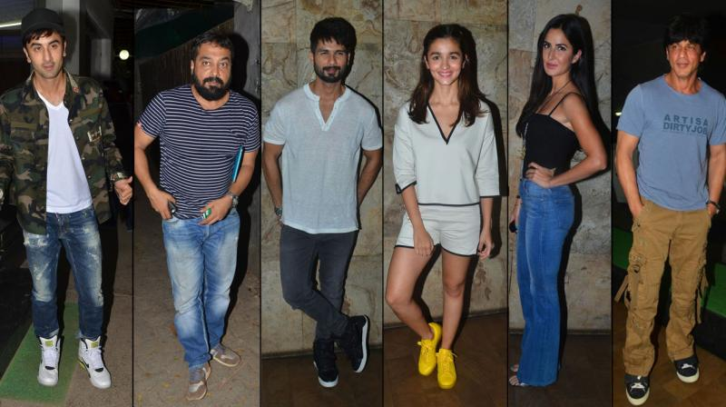 After weeks of all their court drama, the makers of 'Udta Punjab' held star studded screening at two theatres in Mumbai city. Photo: Viral Bhayani