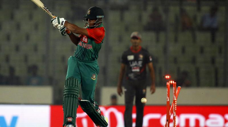 """The offense is levelled as Level 1 breaches that relates to """"abuse of cricket equipment or clothing, ground equipment or fixtures and fittings during an International Match."""" (Photo: AP)"""