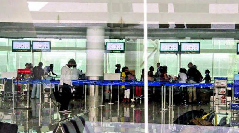 Between 4-8 am, both the incoming and the outgoing air traffic suffered, airport officials said, adding the services were expected to resume after 9 am. (Representational image)