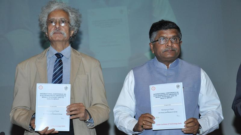 Union Telecom Minister Ravi Shankar Prasad launched a background paper on EMF emissions from mobile towers.
