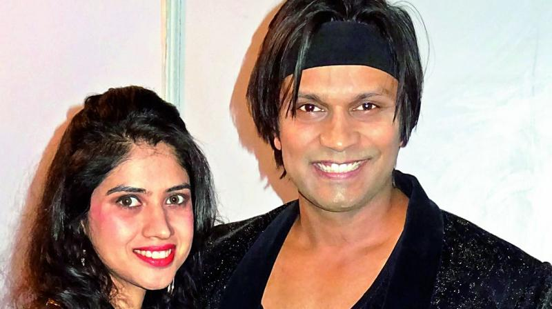 Jimmy Felix with his  co-artiste Shivangi Bhayana