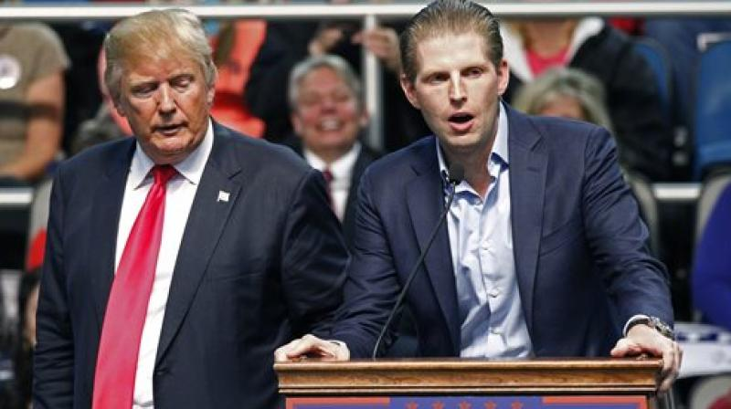 'It was purely a disgusting act by somebody who clearly has emotional problems,' Eric Trump said. (Photo: File I AP)