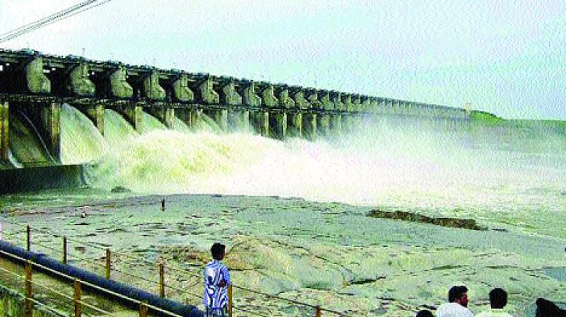 Sriramsagar project has 1,059.7-ft water level with 13.28 tmc ft of water storage, against its full reservoir capacity of 1,091 ft and 90.313 tmc storage.