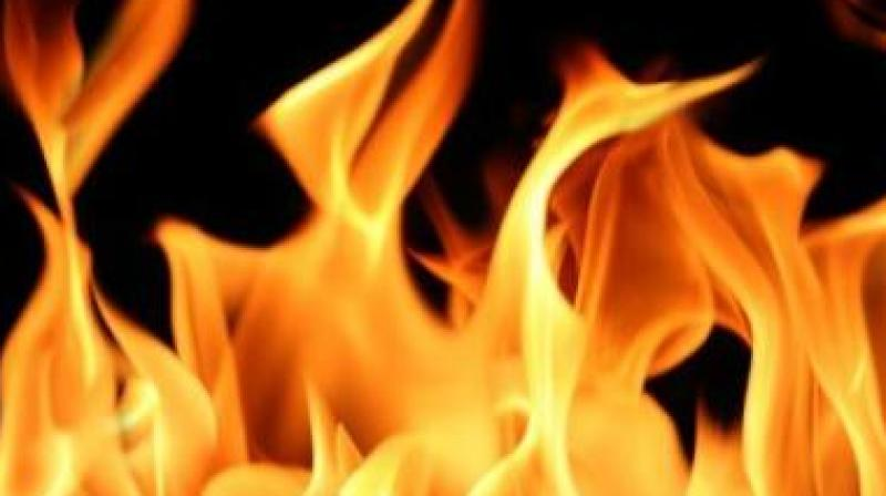 8f09174e42b7 Woman ends life by jumping into brother s burning pyre