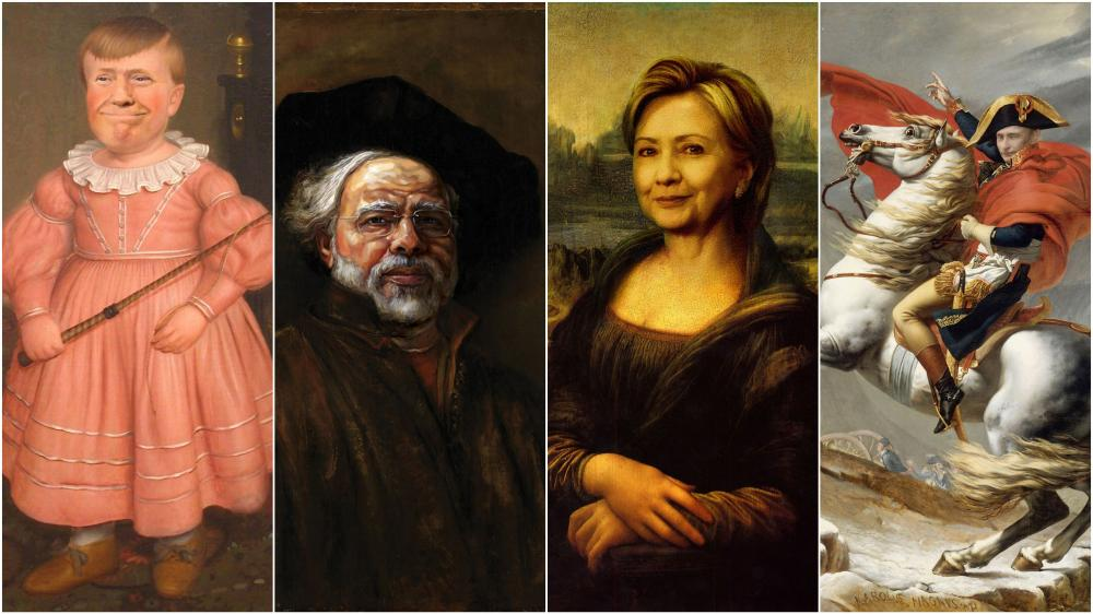 Famous Politicians Placed In Classic Paintings