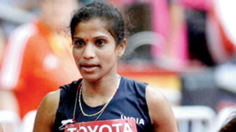 'I ran in scorching heat. There was no water for us, neither recovery drinks nor food. Only once in 8kms did we get water (from the Rio organisers) which did not help at all,' said Jaisha. (Photo: AP/PTI)