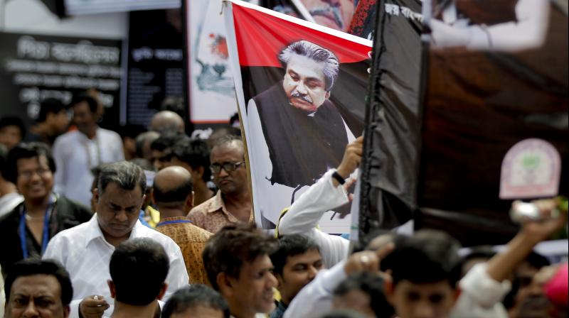 Law Minister Anisul Huq said those who were behind-the-scene masterminds of the assassination of the country's founder Sheikh Mujibur Rahman should be unmasked. (Photo: