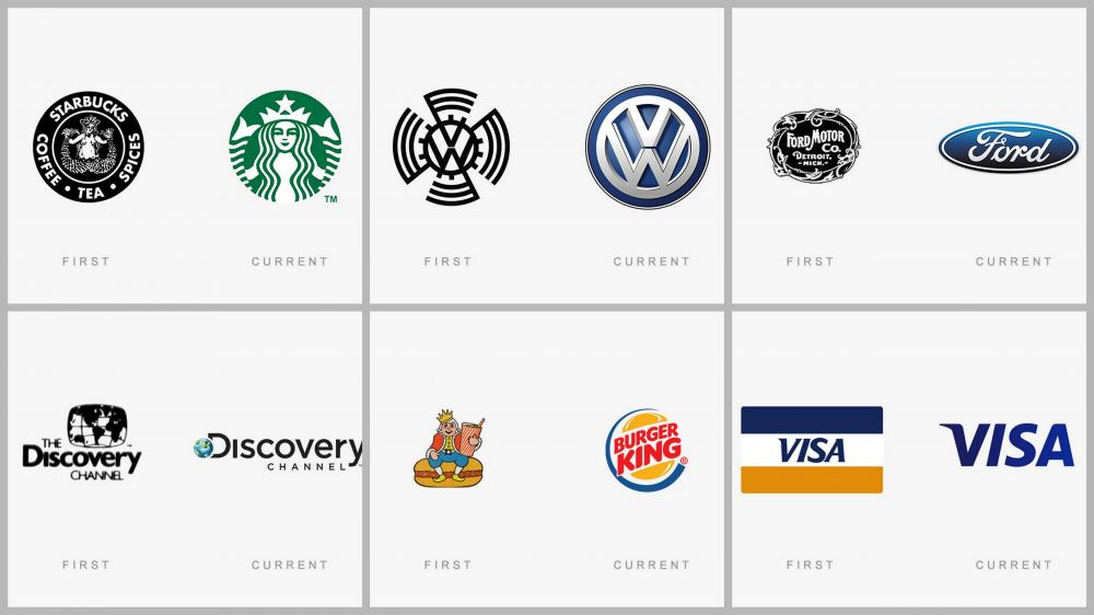 20 famous logos then and now