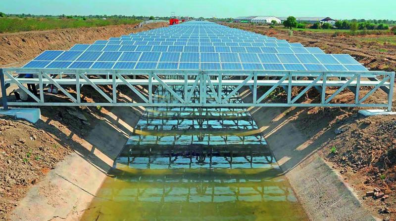 Rajahmundry New Canal Top Solar Power Project In West
