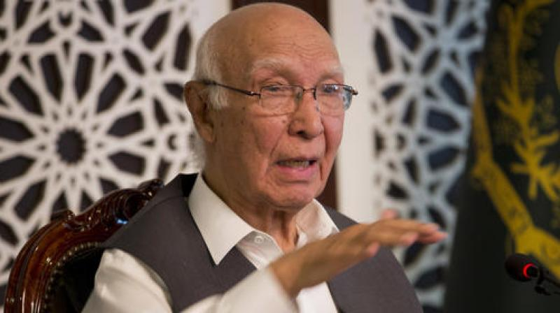 Pakistan Prime Minister's Adviser on Foreign Affairs Sartaj Aziz also asserted that the situation in Balochistan cannot be equated with Kashmir. (Photo: AP)