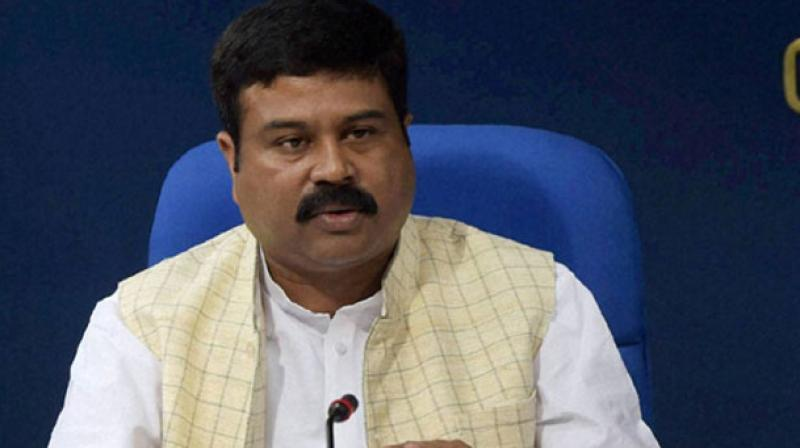 Oil Minister Dharmendra Pradhan on Monday said the daily revision in petrol and diesel prices will continue. Photo: PTI