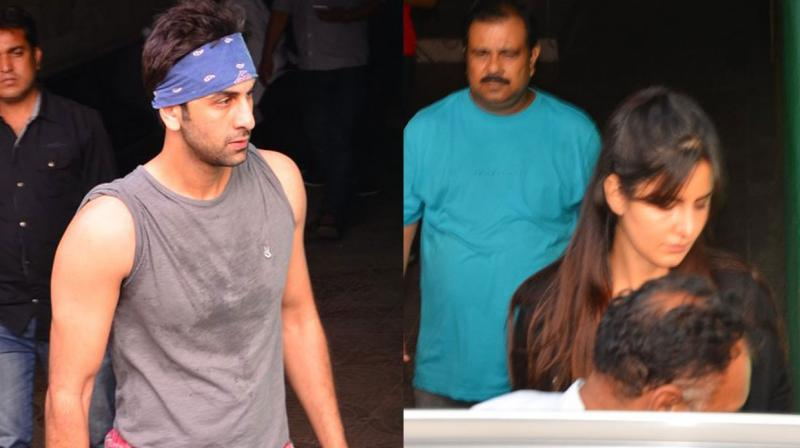 Ranbir Kapoor and ex-flame Katrina Kaif were photographed on Friday evening, after attending dance rehearsals for their upcoming film 'Jagga Jasoos'. Photo: Viral Bhayani