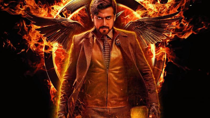 Suriya, with his terrific screen presence sweeps you off your feet in all the three different avatars.