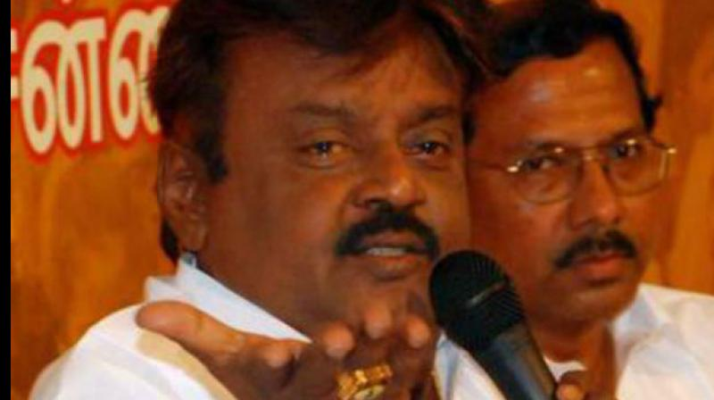 DMDK leader Vijayakanth (Photo: PTI)
