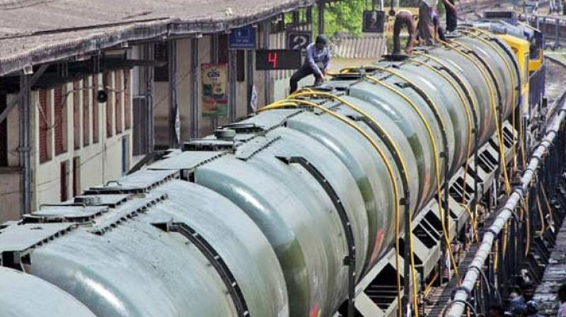 Workers fill water in Central Railway train tanks to transport to drought-hit Latur. (Photo: PTI)