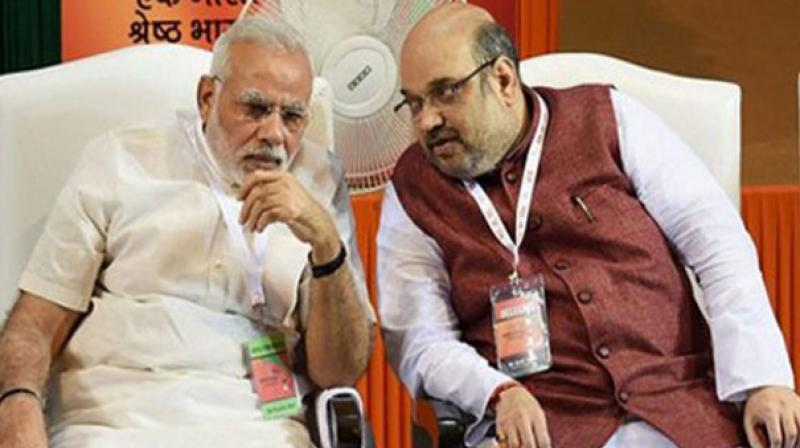 Image result for modi and amit shah