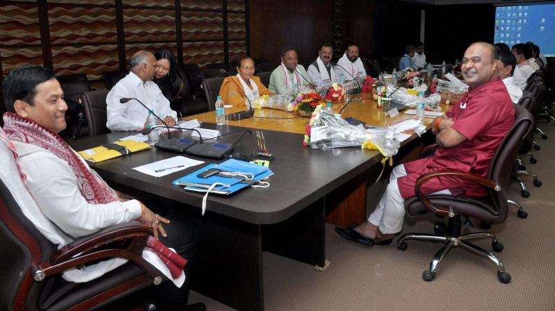 Image result for assam cabinet meeting