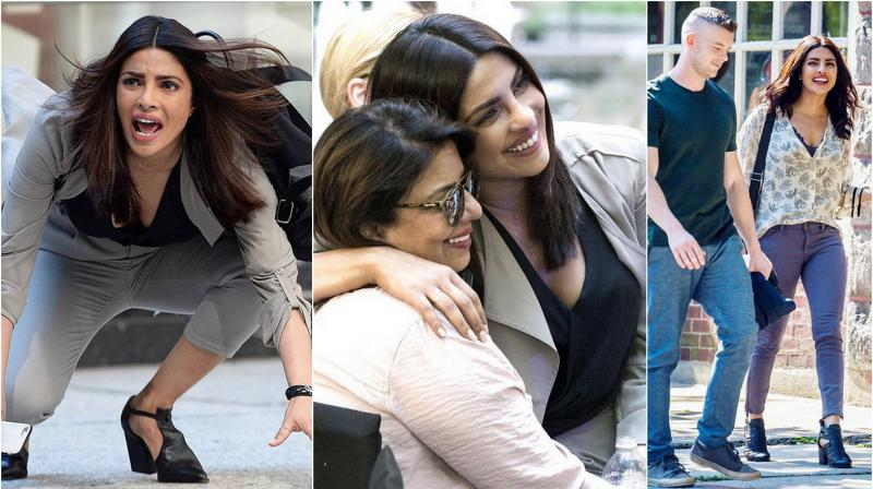 Priyanka Chopra snapped while shooting for 'Quantico' season 2.