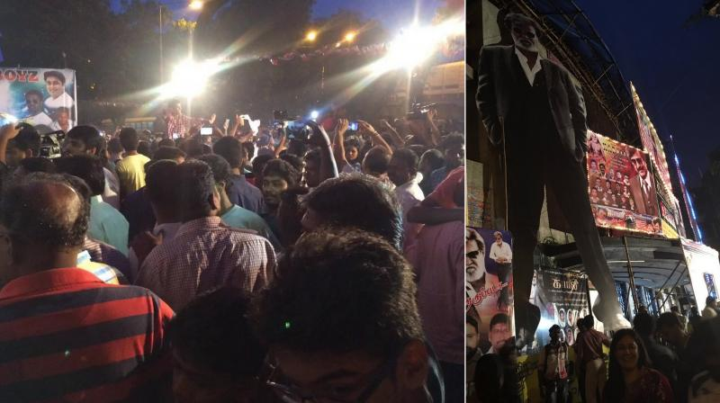 Fans are down with 'Kabali' frenzy.