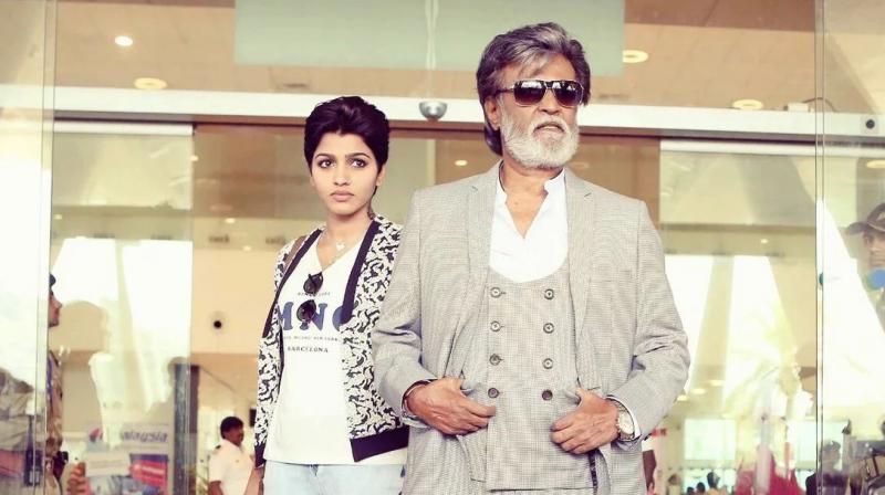 Rajini mesmerizes the audience with his nonchalant movements and sleek dialogues.