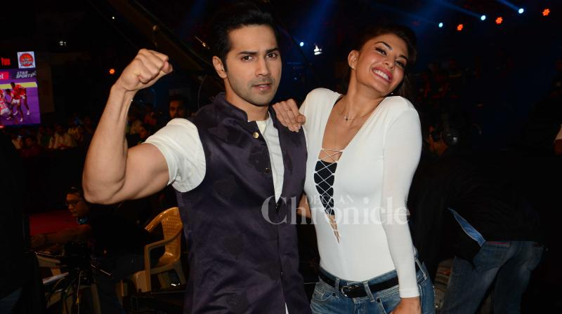 With just few days to go for their 'Dishoom' to hit the silver screen, Jacqueline Fernandez and Varun Dhawan are leaving no stone unturned to promote their film. (Photo: Viral Bhayani)