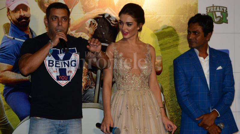 Superstar Salman Khan hopes his brother Sohail Khan's directorial venture 'Freaky Ali', which is going to release on the same date as that of Katrina Kaif- Sidharth Malhotra starrer 'Baar Baar Dekho', does well commercially. (Photo: Viral Bhayani)