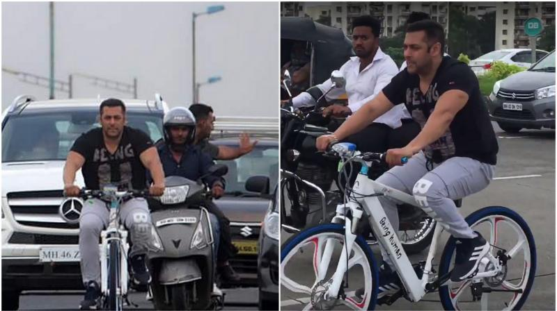 a78c0526ca8 Watch: When Salman Khan cycles, other vehicles are asked to make way