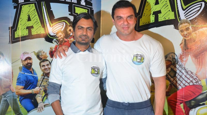 Sohail Khan and Nawazuddin Siddiqui promoted their upcoming movie 'Freaky Ali' at a promotional event on Saturday. (Pic: Viral Bhayani)