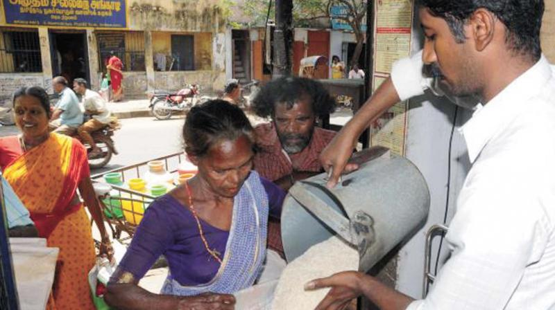 The government spends Rs 6,380 crore a year to supply these families rice at Rs 1 a kg, purchasing it at Rs 29 in the open.