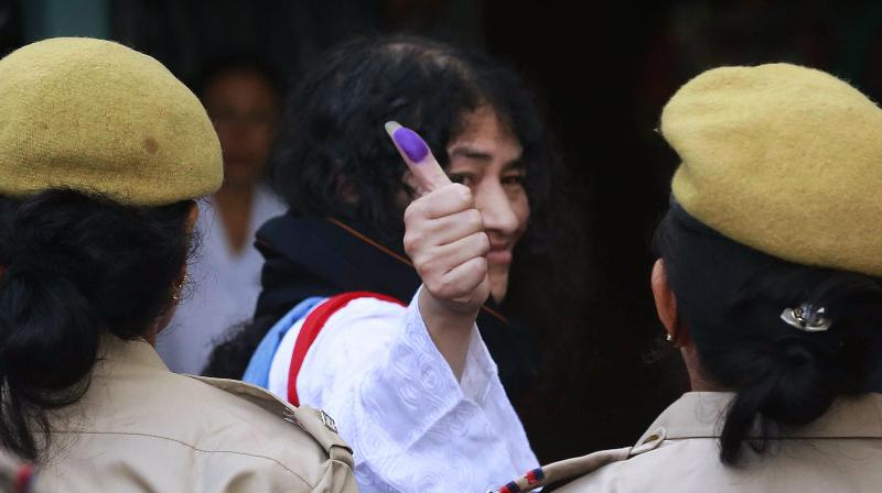 Irom Sharmila said if she becomes the Chief Minister of Manipur, she can repeal AFSPA. (Photo: AP)