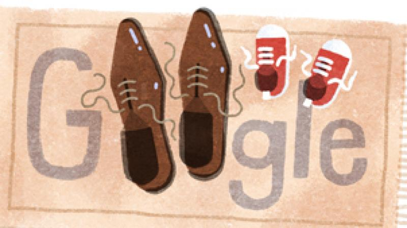 Google's Doodle for today shows two pairs of shoes—one small and another big pair—to celebrate the spirit Father's Day.