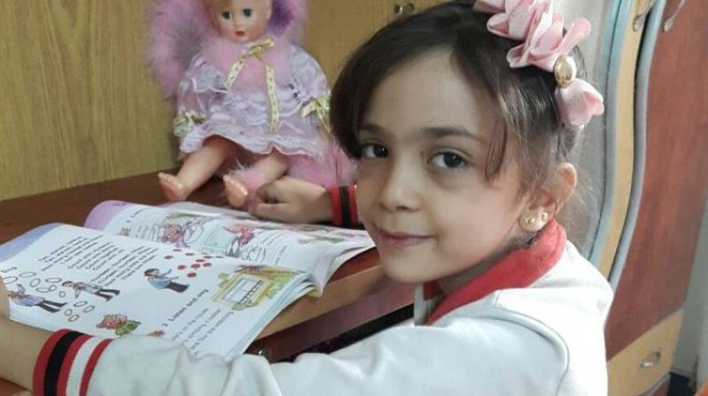 Bana Alabed, 7, lives in with her mother, Fatemah, and her brothers. (Photo: Twitter)