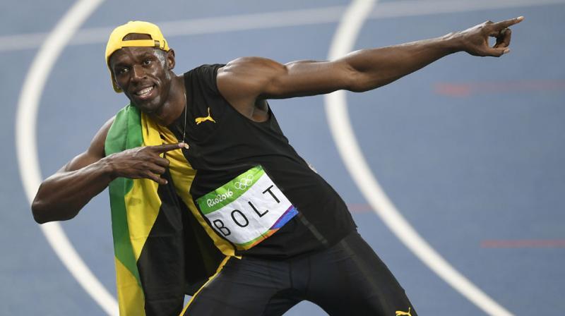 Rio 2016: 'Lightning' strikes thrice as Bolt completes ...